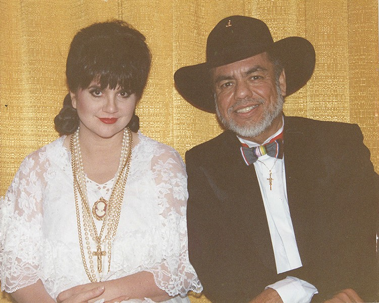 Humble and all, but Little Joe hobnobbed with many stars, such as Linda Ronstadt, above. - COURTESY