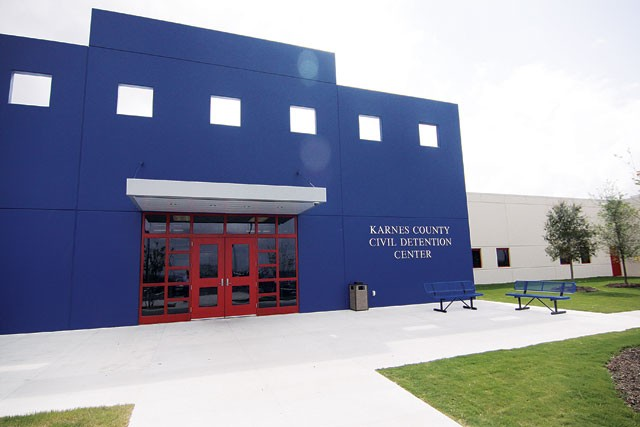 ICE opened the private-run Karnes County Civil Detention Center this year in part to house low-risk immigrants held under mandatory detention. - MICHAEL BARAJAS