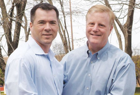 Victor Holmes and Mark Phariss, the same-sex couple who, along with Cleopatra De Leon and Nicole Dimetman, are challenging Texas' same-sex marriage ban. - VIA TOWLEROAD