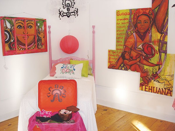 Installation view of 'Sobreviviente: Gunaa Xoo Transforming Life,' at Bihl Haus Arts - COURTESY PHOTO