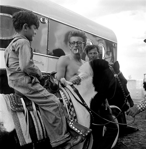 James Dean on location for the film Giant in Marfa, Texas in 1955. - RICHARD C. MILLER