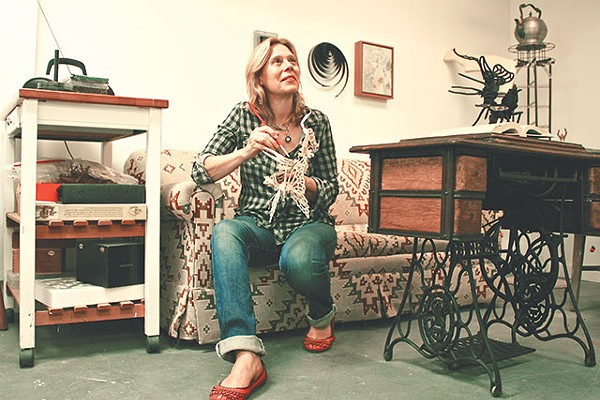 Jayne Lawrence in her studio - PHOTO BY JASON ROBERTS