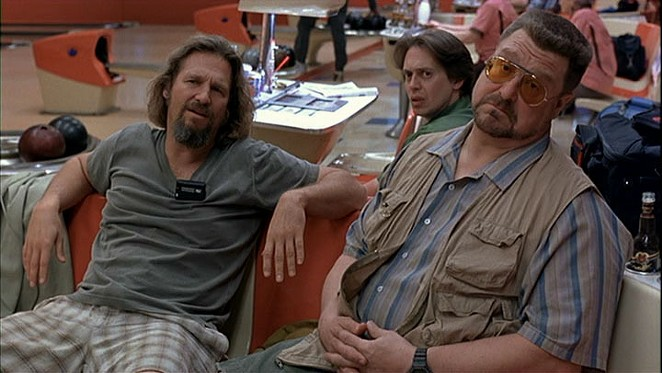 Jeff Bridges, Steve Buschemi, and John Goodman in The Big Lebowski - COURTESY