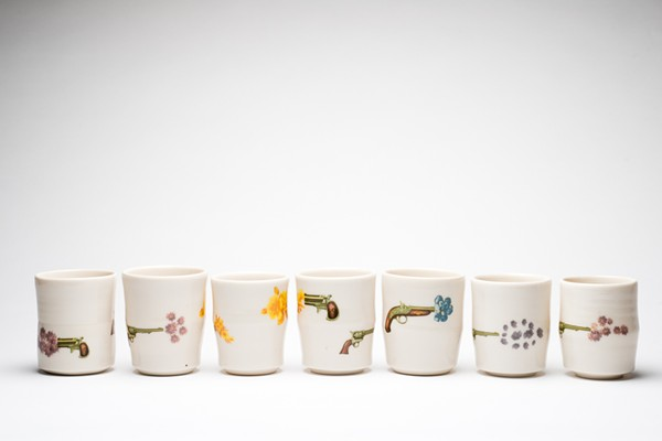 Jennifer ling Datchuk and Ryan Takaba will sell their vintage-inspired household ceramics at the Mockingbird Holiday Market and Southwest School of Art's Articopia. - COURTESY