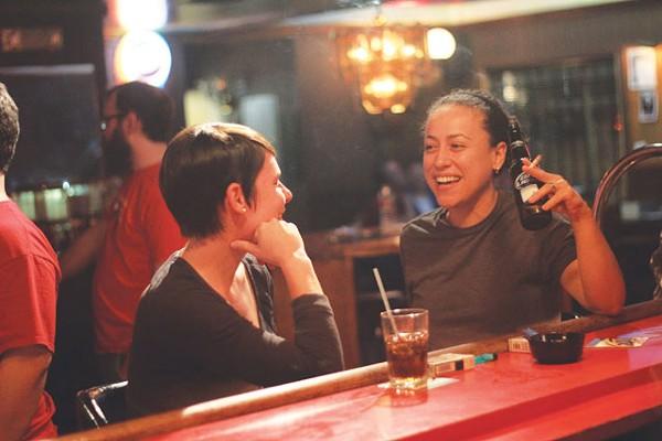Jessica McCrea and Joy Kinkead at the bar at 2015 Club. - CHUCK KERR