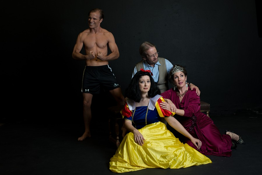 John Stillwaggon, John O'Neill, Emily Spicer and Anna Gangai co-star in the Classic Theatre's production of Vanya and Sonia and Masha and Spike. - PHOTO BY SIGGI RAGNAR