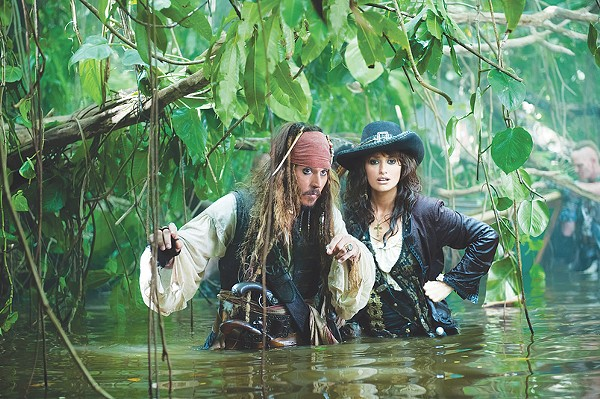 Johnny Depp and Penélope Cruz barely avoid drowning in Pirates IV. - COURTESY PHOTO