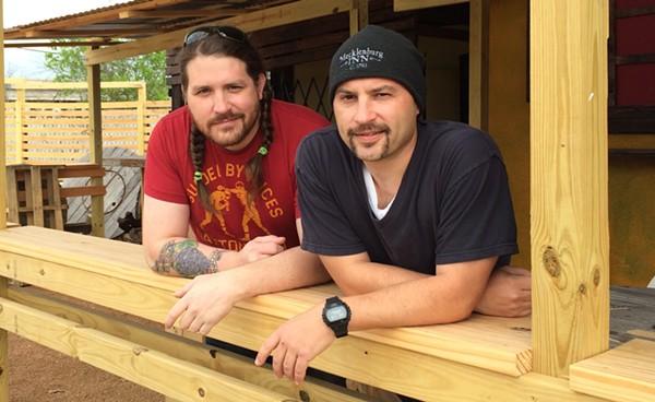 Josh Cross (left), Rick Frame (right) are getting ready for Toro Taco Bar's opening. - JESSICA ELIZARRARAS