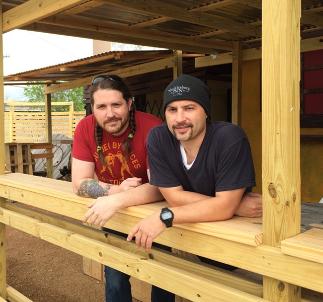 Josh Cross (left), Rick Frame (right) are getting ready for Toro Taco Bar's opening. - JESSICA ELIZARRARAS