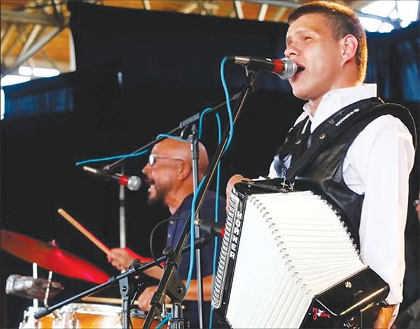 Juanito Castillo (right) and Bonifacio Jordan at the 2011 Tejano Conjunto Festival - COURTESY PHOTO