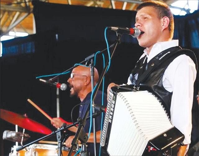 Juanito Castillo (right) and Bonifacio Jordan at the 2011 Tejano Conjunto Festival - COURTESY PHOTO