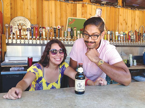 Junaid Syed (right) with co-worker Mel Ramos holding down the Friendly fort - COURTESY PHOTO