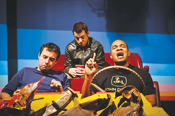 Keith Berry, Kareem Dahab, and EJ Roberts in Hellcab - SIGGI RAGNAR