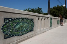 Kersey's work on the Mulberry Bridge at Brackenridge Park - COURTESY