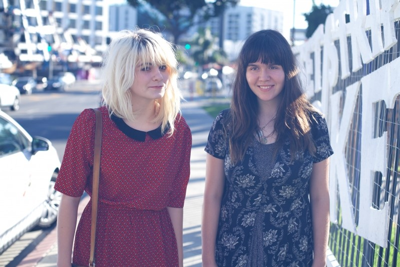 Kelli Mayo and Peyton Bighorse of Skating Polly - COURTESY