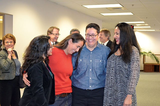 L-R: Elizabeth Ramirez, Anna Vasquez, Kristie Mayhugh and Cassandra Rivera - PHOTO BY MARY TUMA
