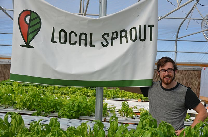 LocalSprout co-founder Mitch Hagney in the green house - MATT STIEB