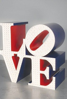 'LOVE' aluminum sculpture