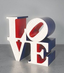 'LOVE' aluminum sculpture