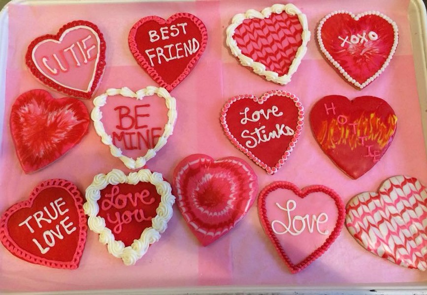 Lovely heart-shaped cookies and more at Kate's. - COURTESY OF KATE'S FROSTING