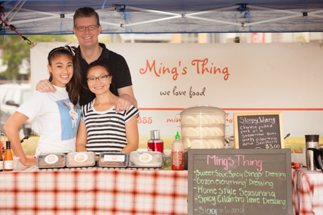 Ming's Things food truck co-owners Hinnerk von Bargen and Ming Qian (right) were the subject of a racist tirade during a dispute with The Yard Farmers and Ranchers Market owners Heather Hunter and F. David Lent - COURTESY