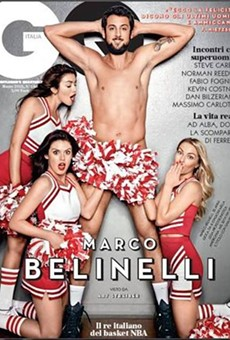 Marco Belinelli keeps his socks on for decency