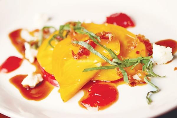 Market salad from Tre Trattoria at the Fairmount Hotel - JOSH HUSKIN