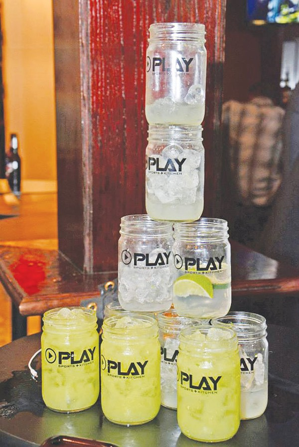 Mason jars are the glasses of choice at Play - COURTESY PHOTO