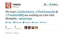 Mayor Castro Bets Granary 'Cue on Spurs