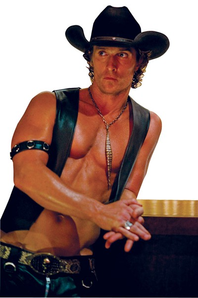 McConaughey displays his range with Magic Mike's vest-but-no-shirt combo. Well played, Matt. Well played. - COURTESY PHOTO