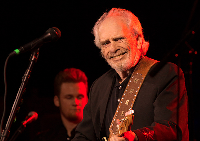 Merle Haggard at Whitewater Amphitheater - JEFFREY BURTON