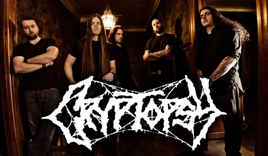 Montreal metal quintet repping a classic metal font - COURTESY