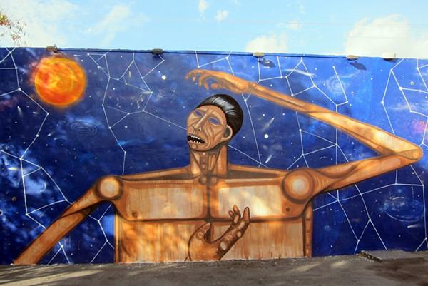 Mural by LA's The Date Farmers