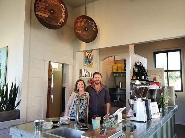 Natalie Nazarewicz and Bronson Holbrook inside Press Coffee - JESSICA ELIZARRARAS