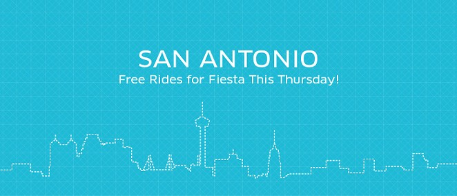 Uber is offering free rides on Thursday for Fiesta! - UBER
