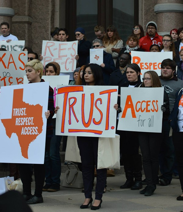 "Texas just came up with special ""abortion insurance."" - NARAL PRO-CHOICE TEXAS"