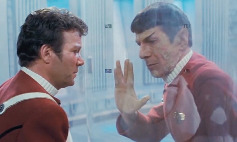 Leonard Nimoy as Spock in Star Trek II: The Wrath of Khan, which screens this Thursday at the Alamo Drafthouse Park North. - COURTESY