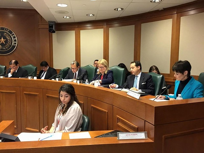 State Senator Donna Campbell, in blue, says Texas should end in-state tuition for some undocumented immigrants. - SENATOR DONNA CAMPBELL