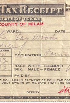 Here's a photo of a poll tax receipt. Critics of Texas' Voter ID law say it amounts to a poll tax.