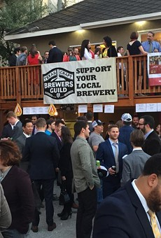 Craft beer bills are brewing at the Capitol. This photo shows a Texas Craft Brewers Guild legislative happy hour.