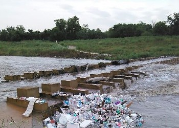 There's A Lot Of Fiesta Garbage In The San Antonio River