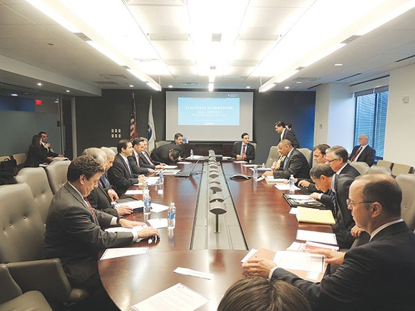 Officials from the U.S. and Mexico came to the table to discuss a high-speed rail line last week. - COURTESY PHOTO