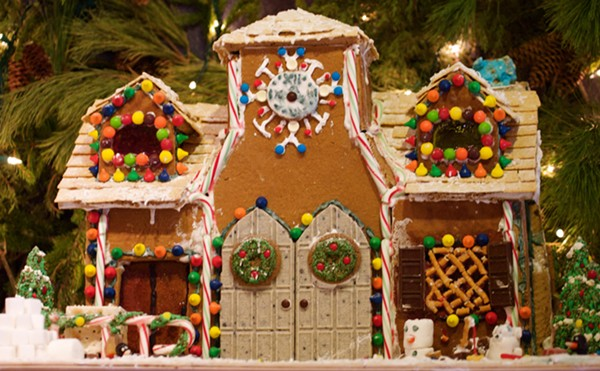 Okay, maybe this gingerbread house is a little too advanced for children... - COURTESY
