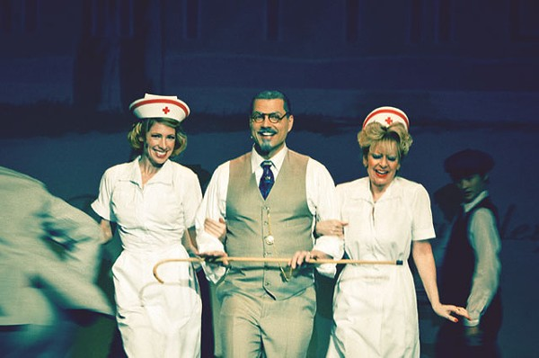 Paige Blend, Roy Bumgarner, Twyla Lamont in Roads Courageous at The Playhouse. - SIGGI RAGNER