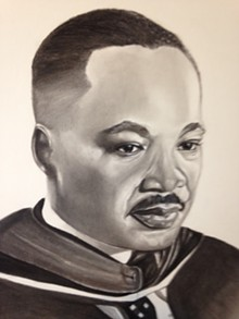 ARTIST - GUY SHEPPARD - Painting of Dr Martin Luther King Jr
