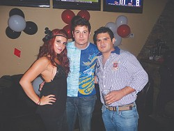 Paola Penichet, Luis Gutierrez, and Sammy Sosa at Cielito Lounge in Stone Oak.