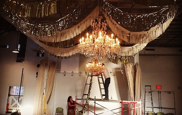 Party preparations are well underway at BRICK for the first annual Elf Ball, benefitting the Artist Foundation of San Antonio. - ARTIST FOUNDATION OF SAN ANTONIO/FACEBOOK