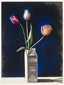 Paul Wonner, 'Tulips in a Milk Carton' - COURTESY