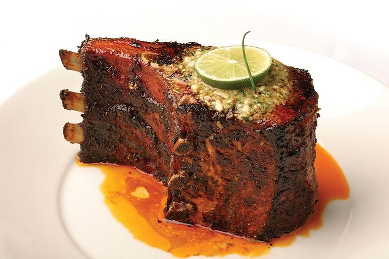 Perry's Flintstonian pork chop - COURTESY