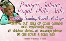 HEROES N MORE - Princess Jalene's Princess Plate Sale